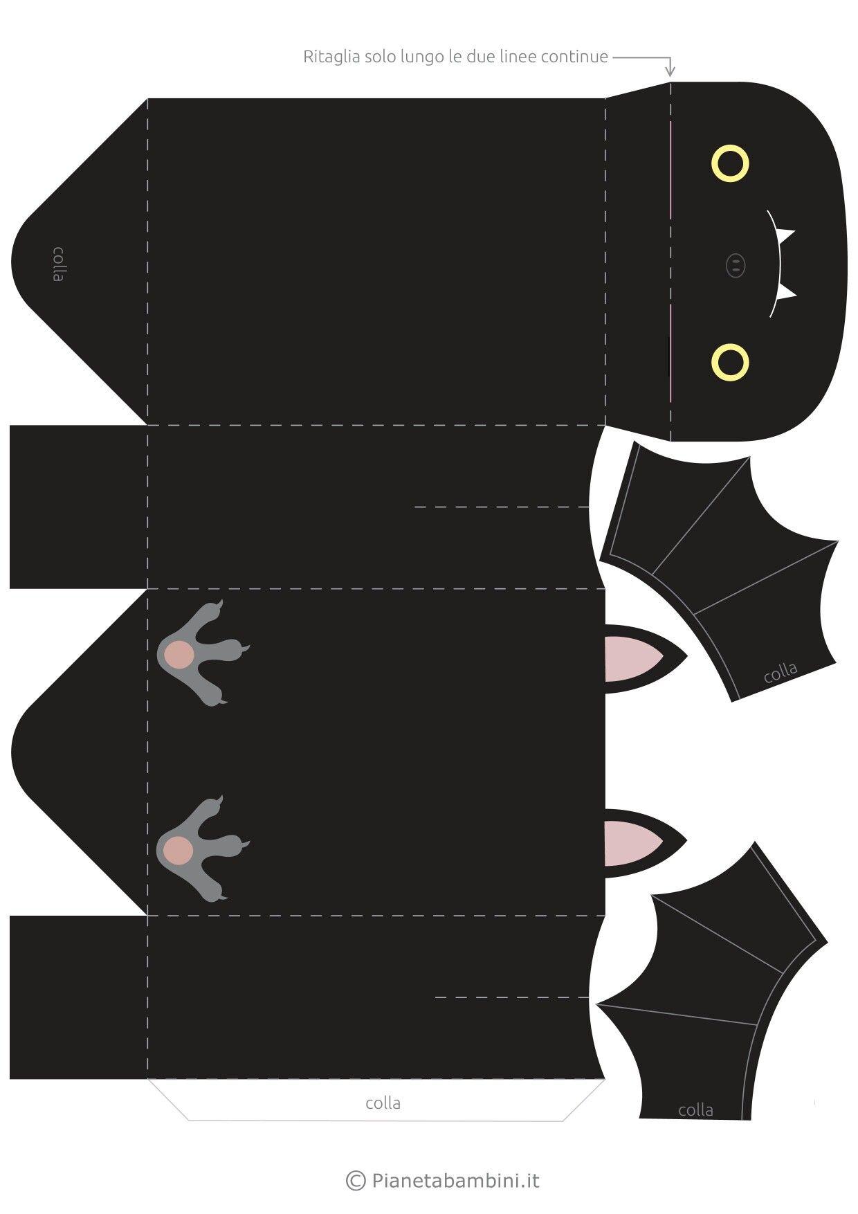 Коробочка в виде летучей мыши