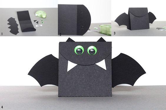 Пакетик в виде летучей мыши