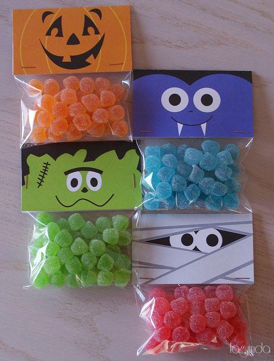 Пакетики для конфет на Хэллоуин