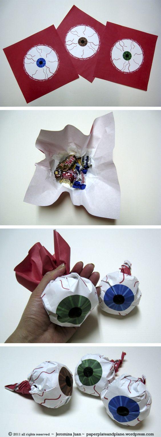 Упаковка подарка в виде глаза