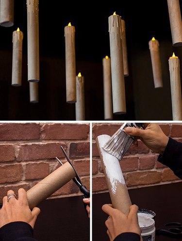 Как сделать бутафорские свечи