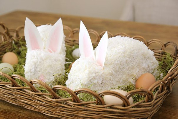 Пасхальный торт в виде кролика