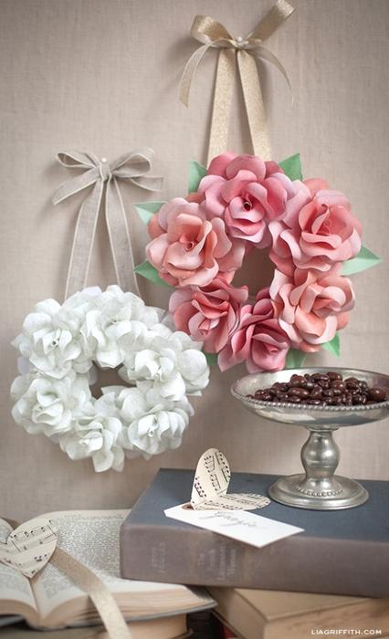 Букет из бумажных роз своими руками