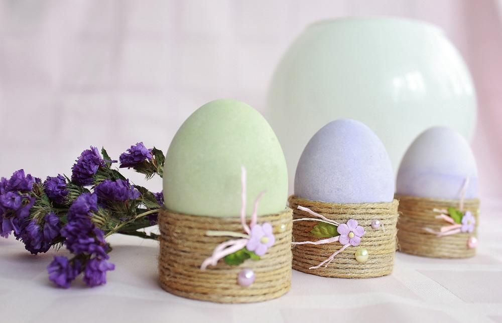 Джутовые подставки для яиц