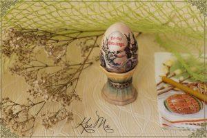 Пасхальные яйца из гипса