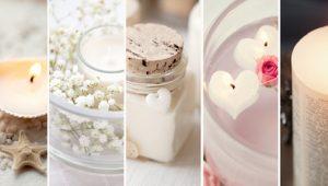 Пять вариантов создания романтических свечей