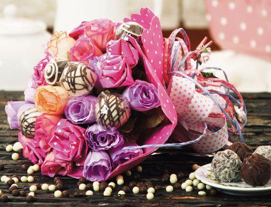Букет из конфет к 8 марта