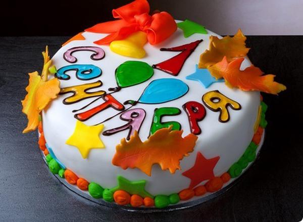 Торт к 1 сентября: украшаем торт своими руками