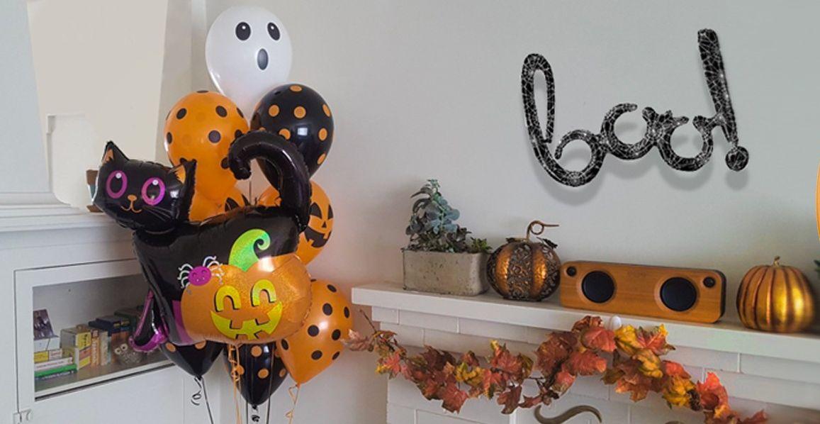 Декор вечеринки на Хэллоуин шарами