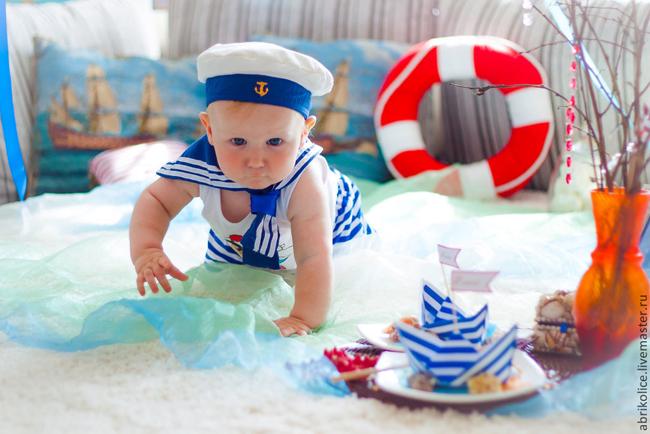 День рождения в морском стиле