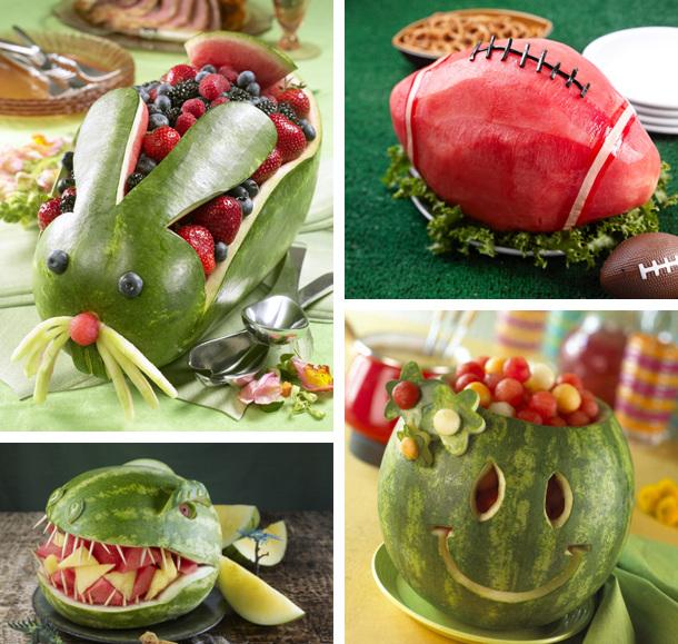 Красивая подача арбуза и фруктов