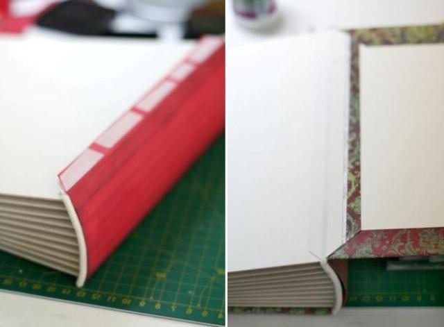 Как приклеить переплет к обложке фотоальбома