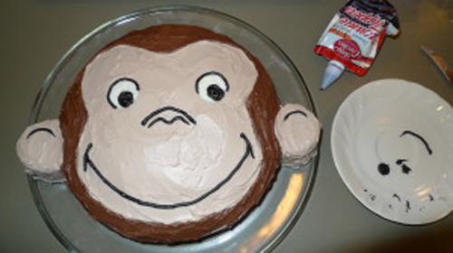 Новогодний торт в виде обезьяны своими руками
