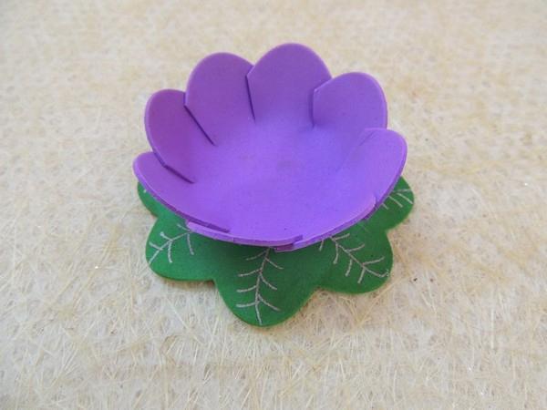 Объемный цветок из фоамирана своими руками