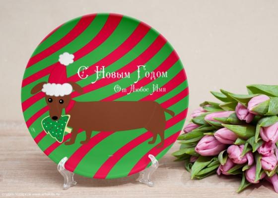 Декоративные новогодние тарелки