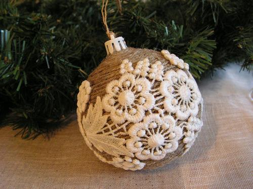Винтажный елочный шар