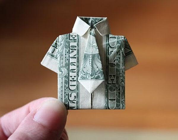 Рубашка из денежной купюры