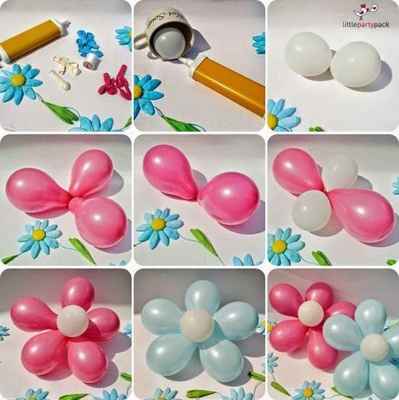 Как сделать цветы из шариков