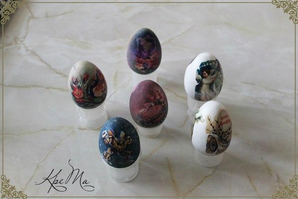 Декупаж декоративных яиц