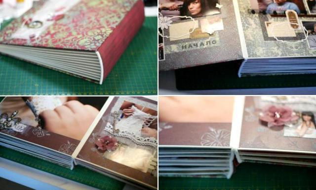 Как правильно приклеить страницы к обложке фотоальбома