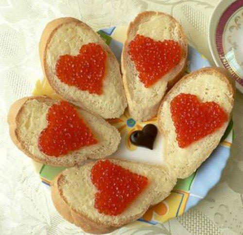 Оригинальные бутерброды с икрой