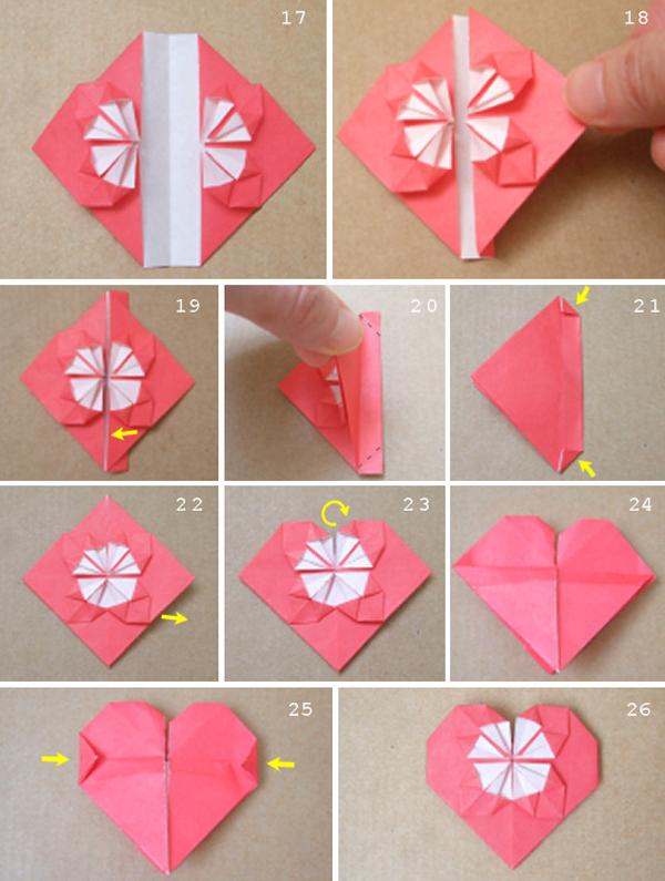 Как сложить валентинку-оригами