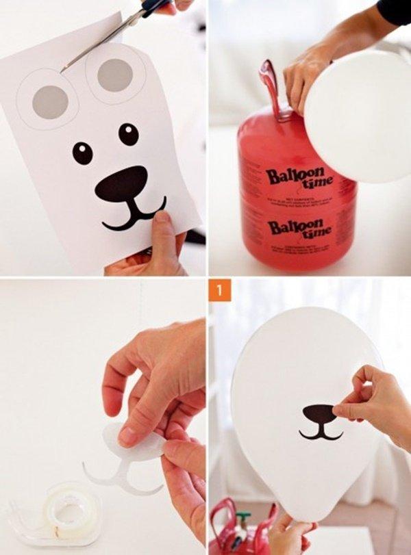 Как сделать мишку из воздушного шарика