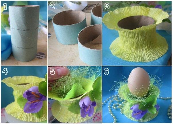 Подставки для яиц из гофрированной бумаги