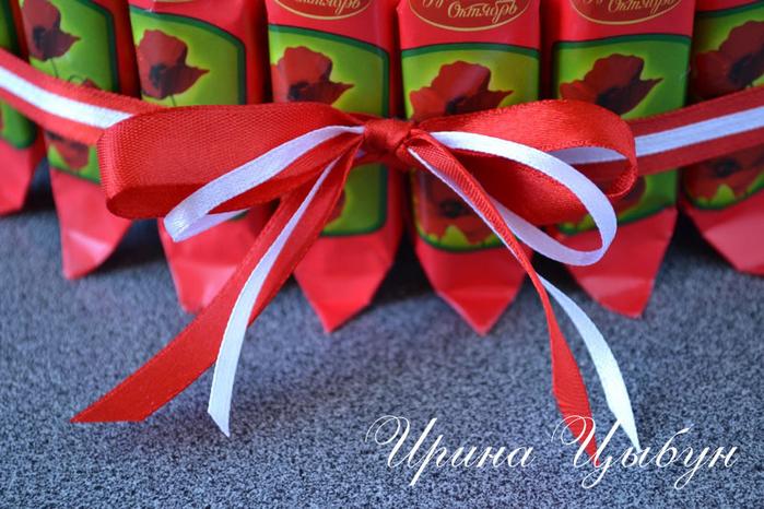 Подарок из конфет своими руками