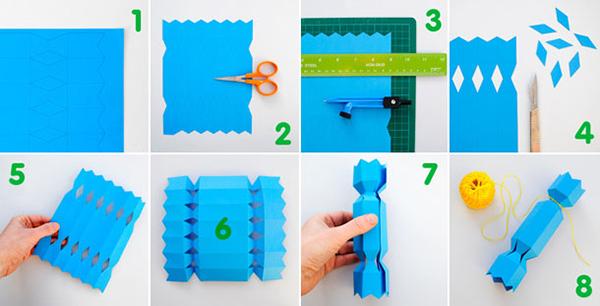 Как сделать упаковку подарка в виде конфеты
