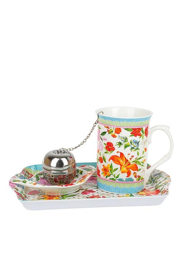 Подарочный набор кружка с ситечком для чая