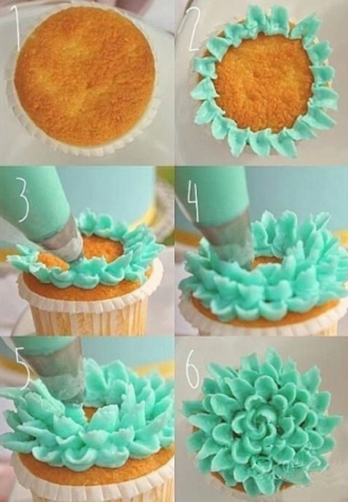 Как украсить кексы кремом