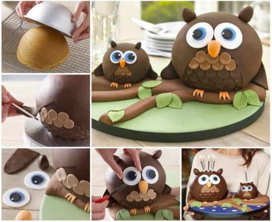 Простой торт сова своими руками