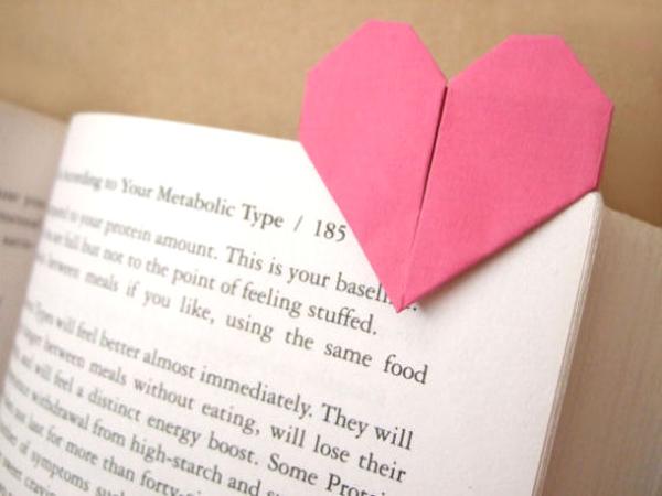 Закладка в виде сердца