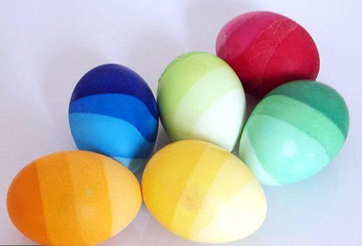 Градиентные пасхальные яйца