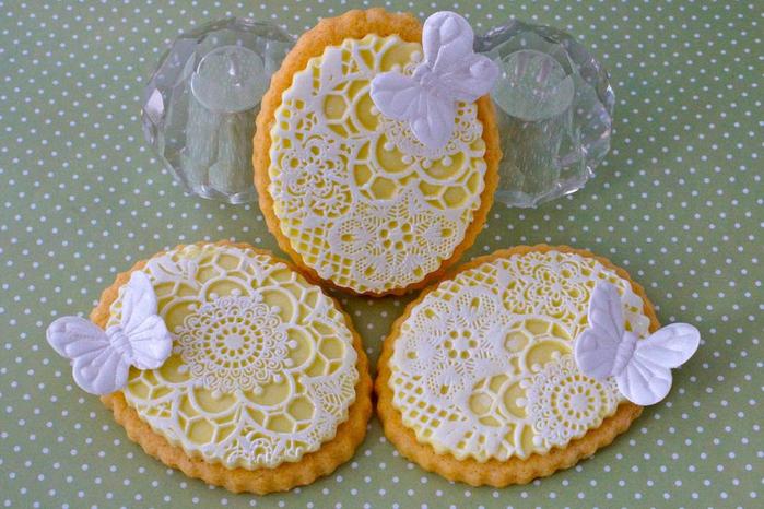 Печенье, украшенное королевской глазурью
