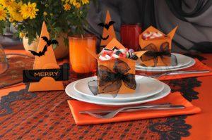 Сервировка стола на Хэллоуин