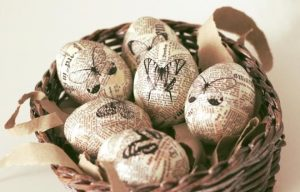 Пасхальные яйца в винтажном стиле
