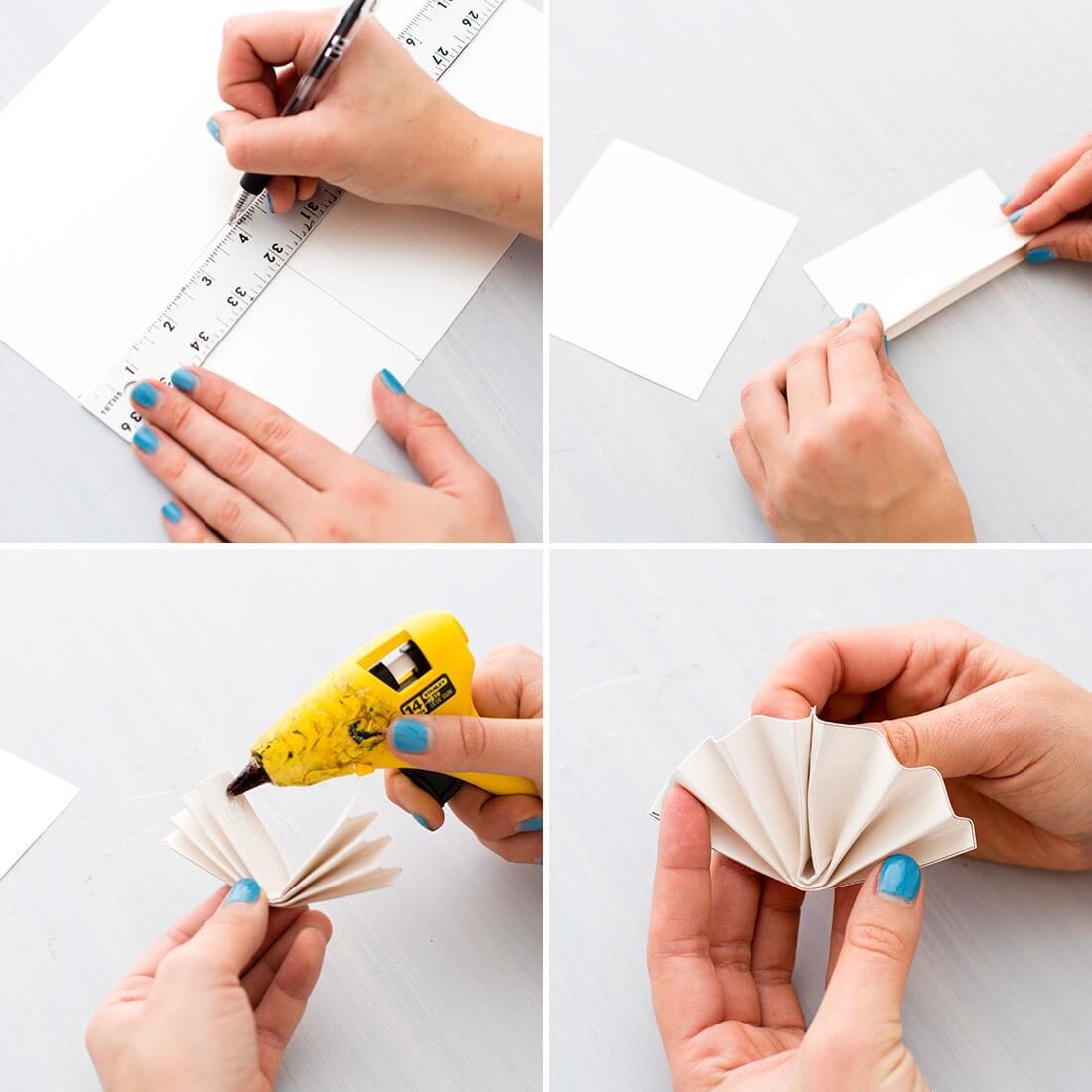 Как сделать круг из бумажной гармошки