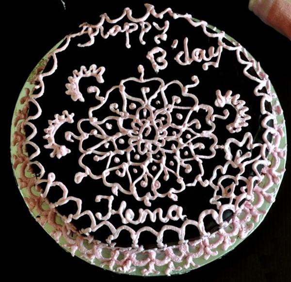 Украшение торта безе