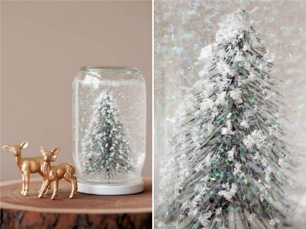 Рождественский шар из банки своими руками