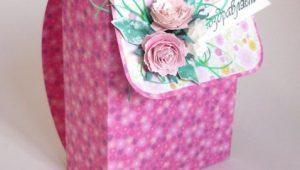 Подарочная упаковка в виде рюкзака