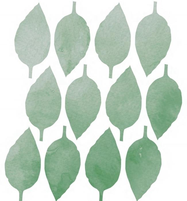 Трафареты листьев для распечатки