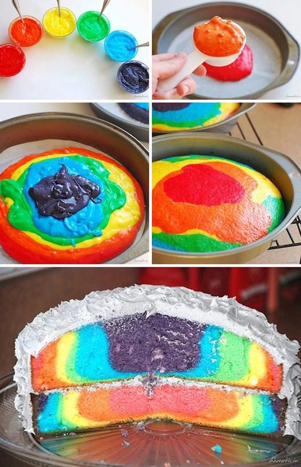 Торт радуга своими руками