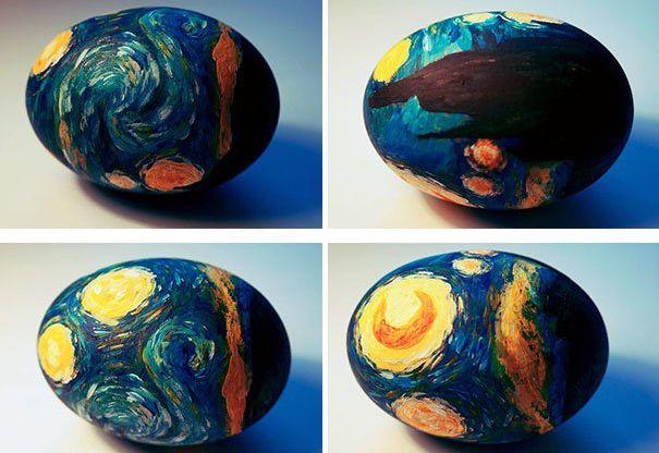 Пасхальные яйца в стиле Ван Гога