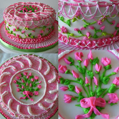 Розы из крема для украшения торта