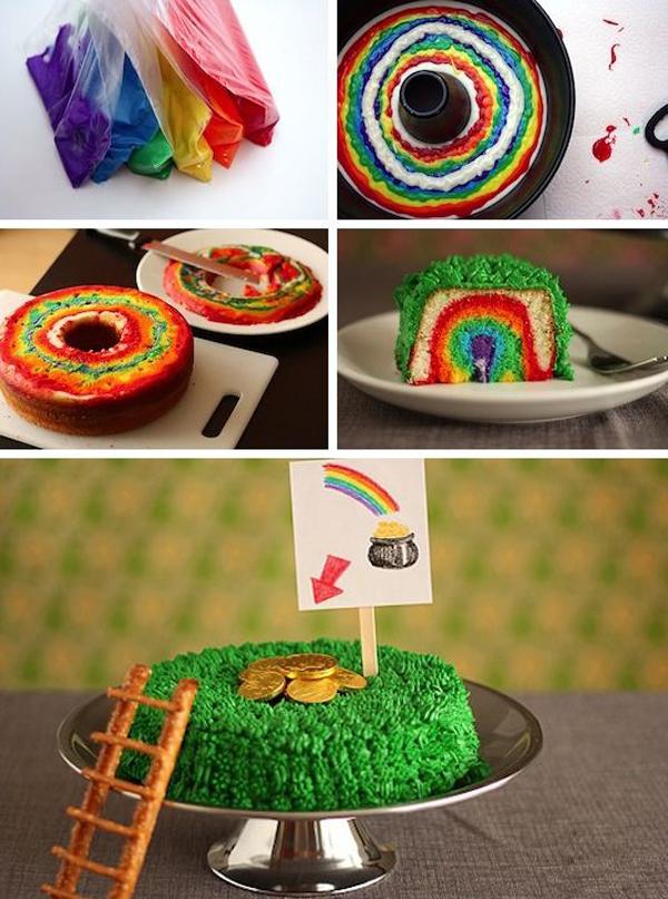 Как приготовить радужный торт