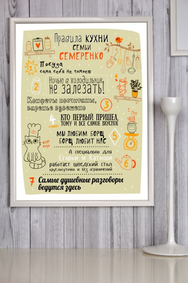 Оригинальный постер для кухни