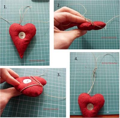 Сердечки с пуговицами