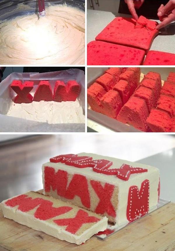 Торт с надписью внутри